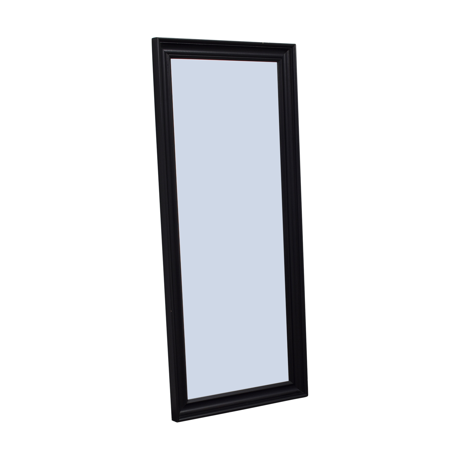 shop Crate & Barrel Black Wood Standing Mirror Crate & Barrel Mirrors