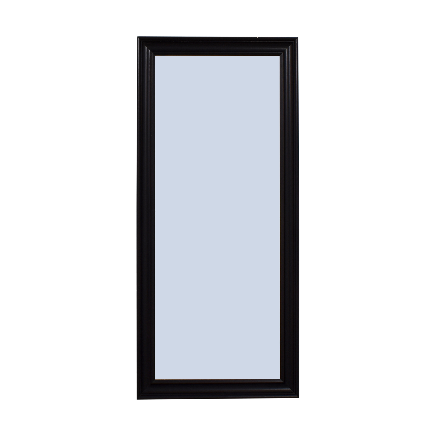 Crate & Barrel Crate & Barrel Black Wood Standing Mirror Mirrors