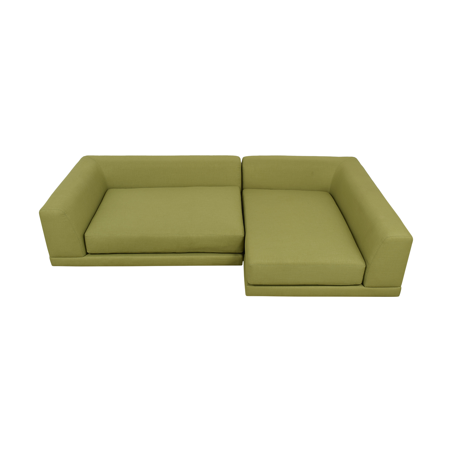 shop CB2 CB2 UNO Green L-Shaped Sectional online