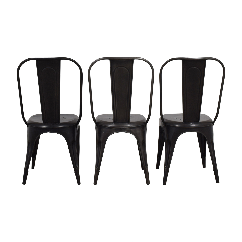 Arhaus Bryant Grey and Black Dining Chairs Arhaus
