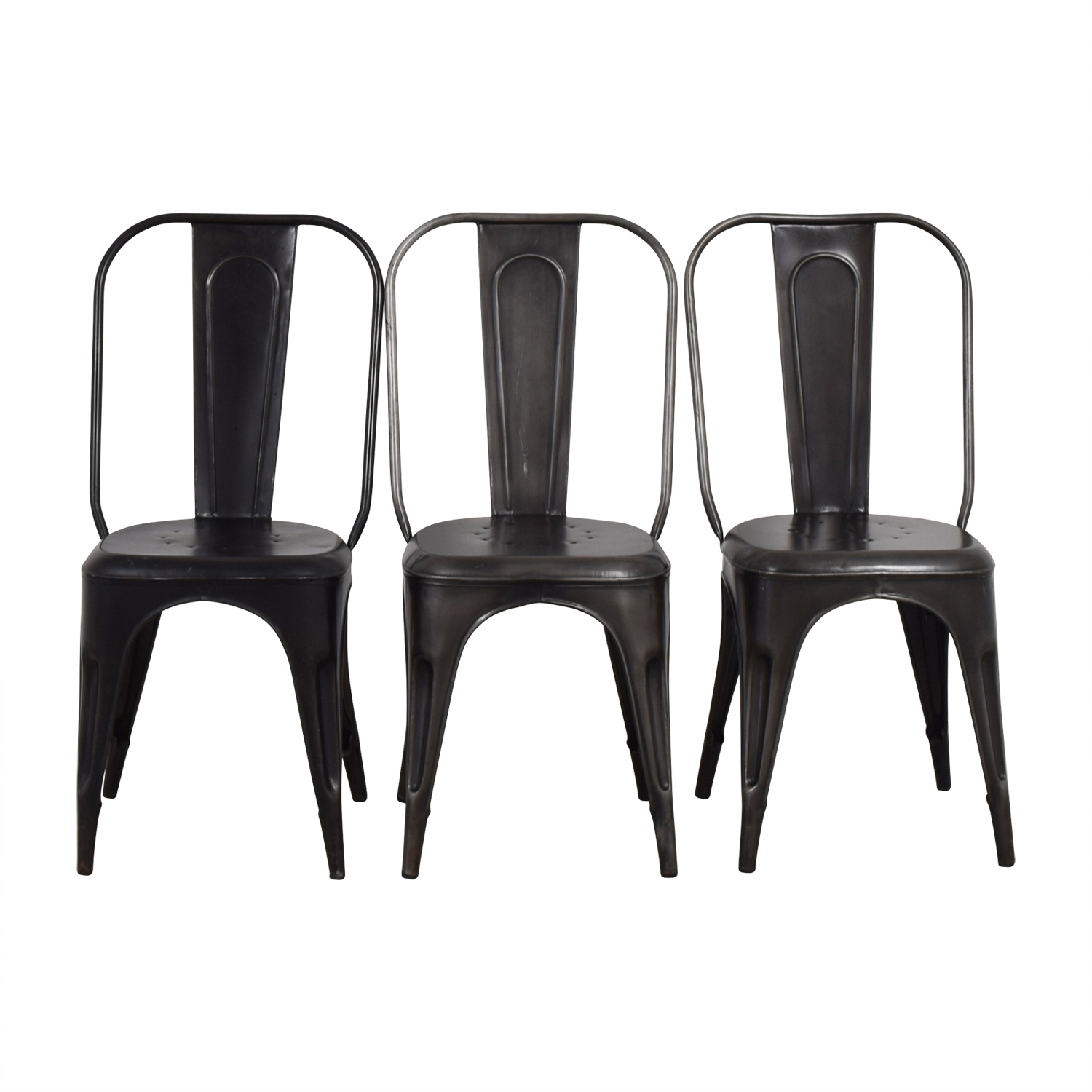 Shop black dining chairs quality used furniture for Grey and black dining chairs