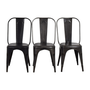 Arhaus Arhaus Bryant Grey and Black Dining Chairs nyc