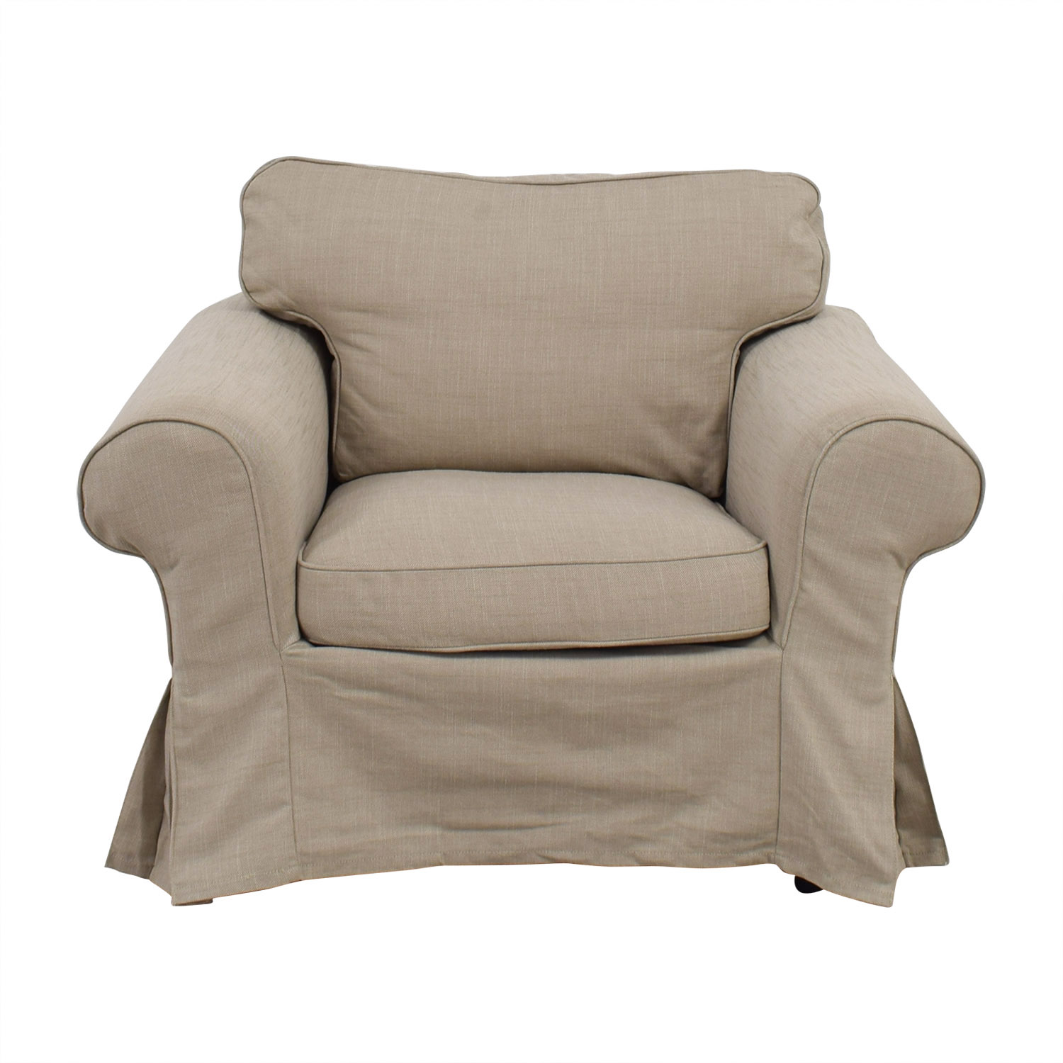 shop IKEA Etorp Beige Skirted Armchair IKEA Accent Chairs