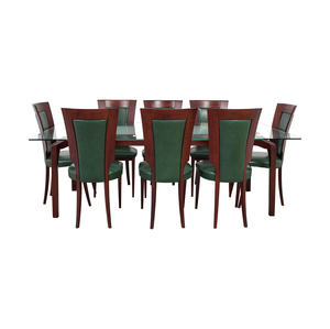 buy Domus Design Caiccio Glass and Wood Dining Set Domus Design Center