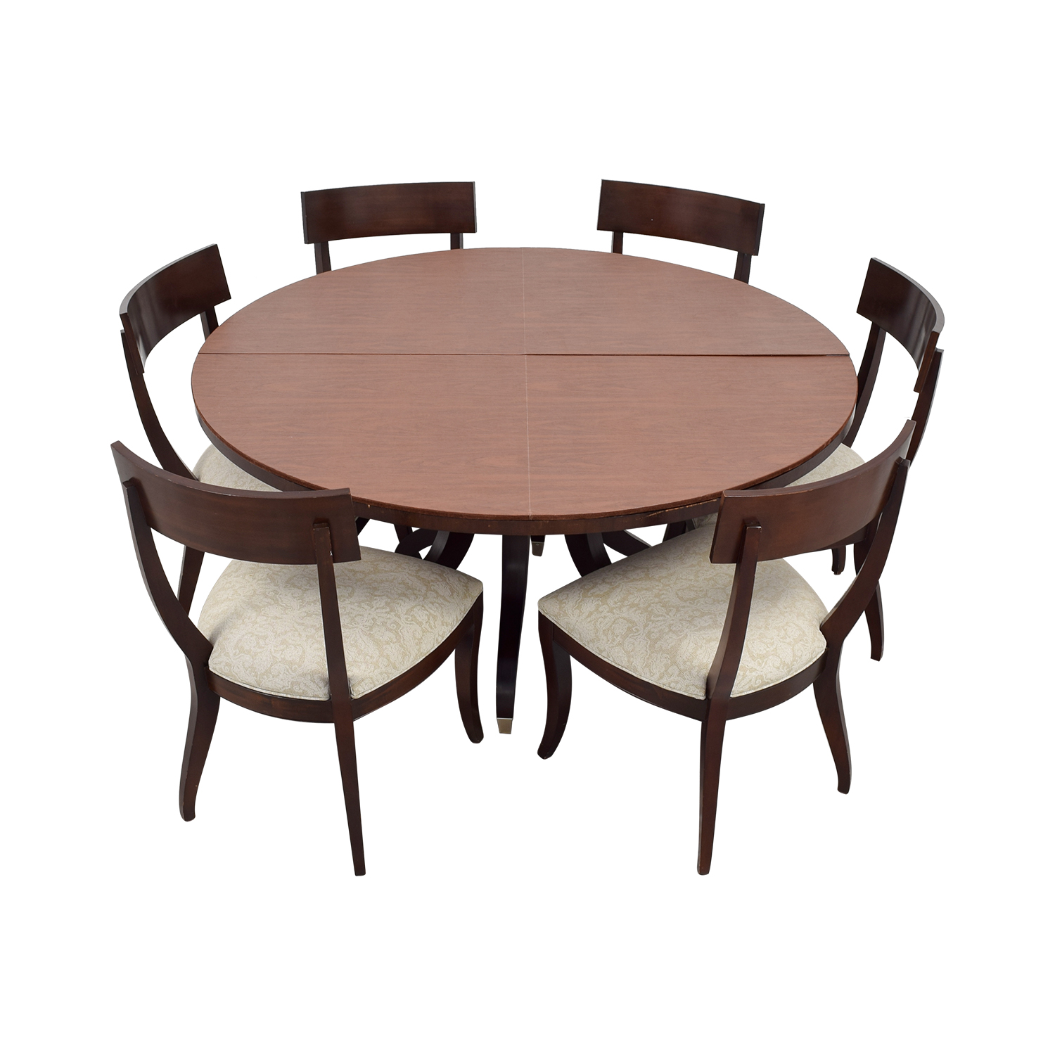 Round Dining Set With Leaf: Ethan Allen Ethan Allen Round Dining Set With