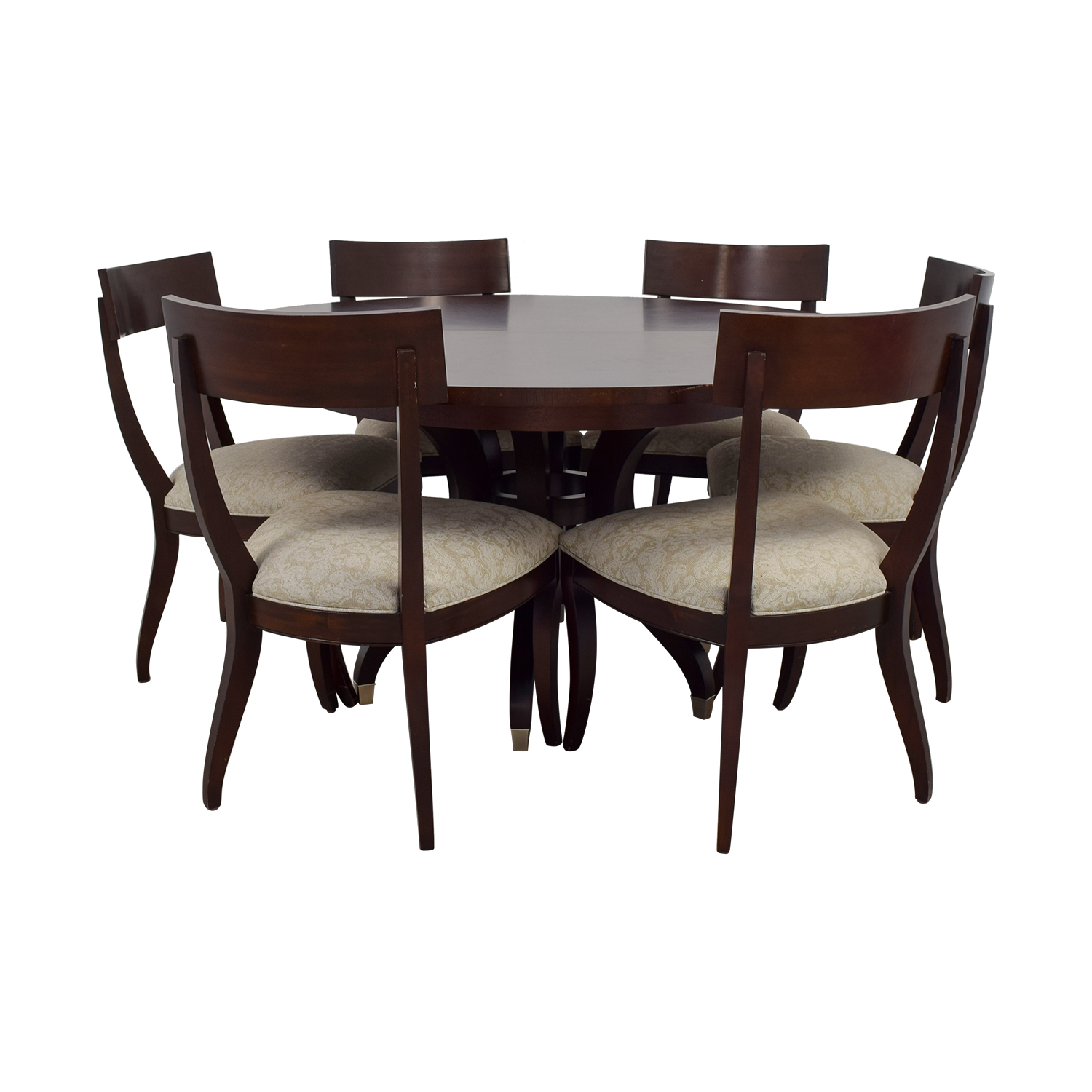 Ethan Allen Ethan Allen Round Dining Set with Leaf and Protective Cover Dining Sets