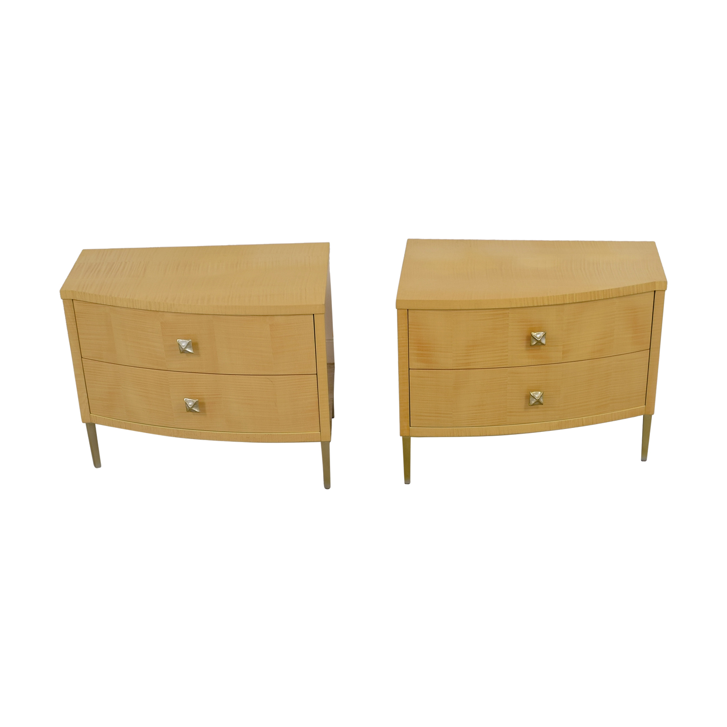 Natural Two-Drawer Nightstands / Tables