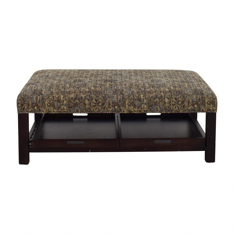 Super 90 Off Arhaus Arhaus Multi Colored Ottoman With Storage Trays Chairs Evergreenethics Interior Chair Design Evergreenethicsorg