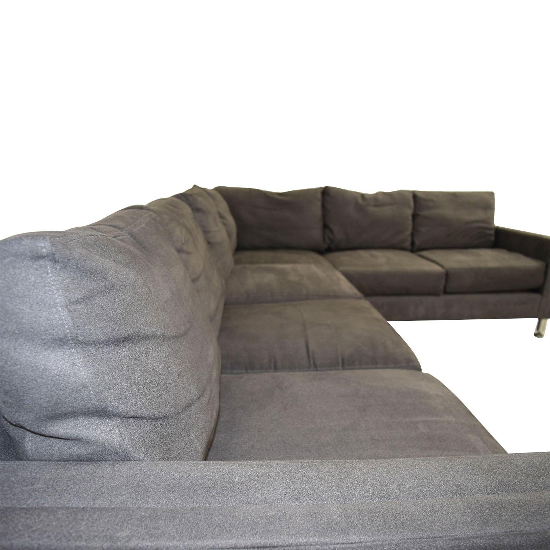 85 Off Safavieh Safavieh Grey L Shaped Sectional Sofas