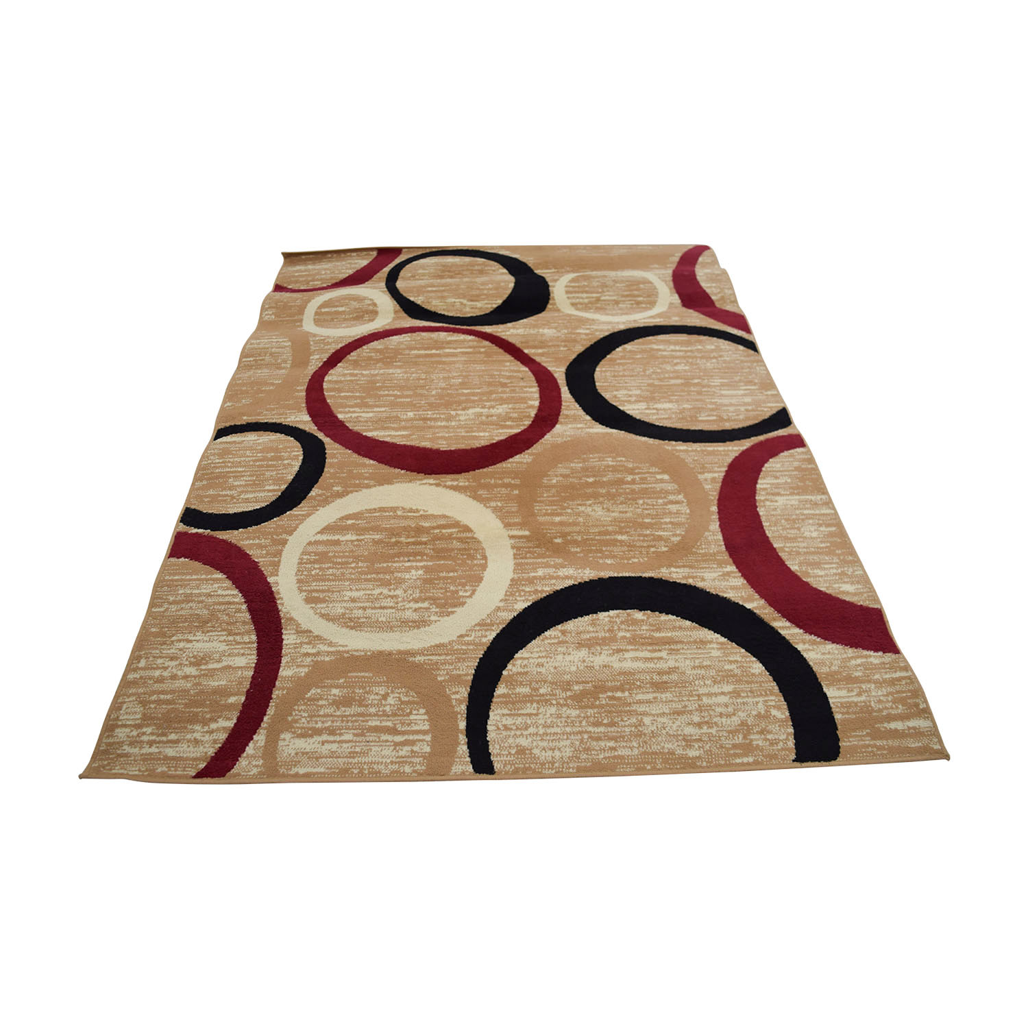 shop Tan Black and Red Circle Rug online