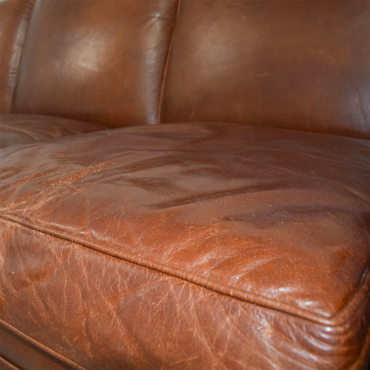 ... Ralph Lauren Burnt Orange Leather Sofa / Sofas ...