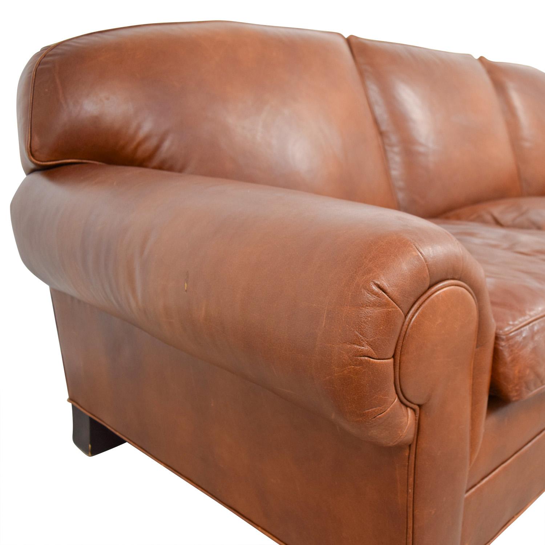 ... Ralph Lauren Ralph Lauren Burnt Orange Leather Sofa Price ...