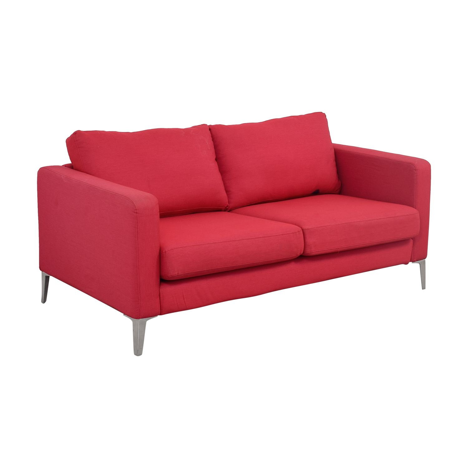 81 off ikea ikea red two cushion love seat sofas. Black Bedroom Furniture Sets. Home Design Ideas
