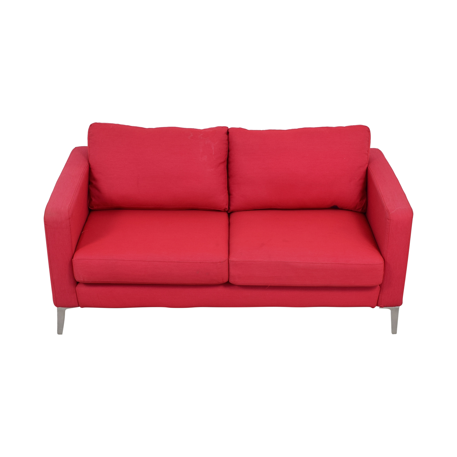 IKEA IKEA Red Two-Cushion Love Seat Loveseats