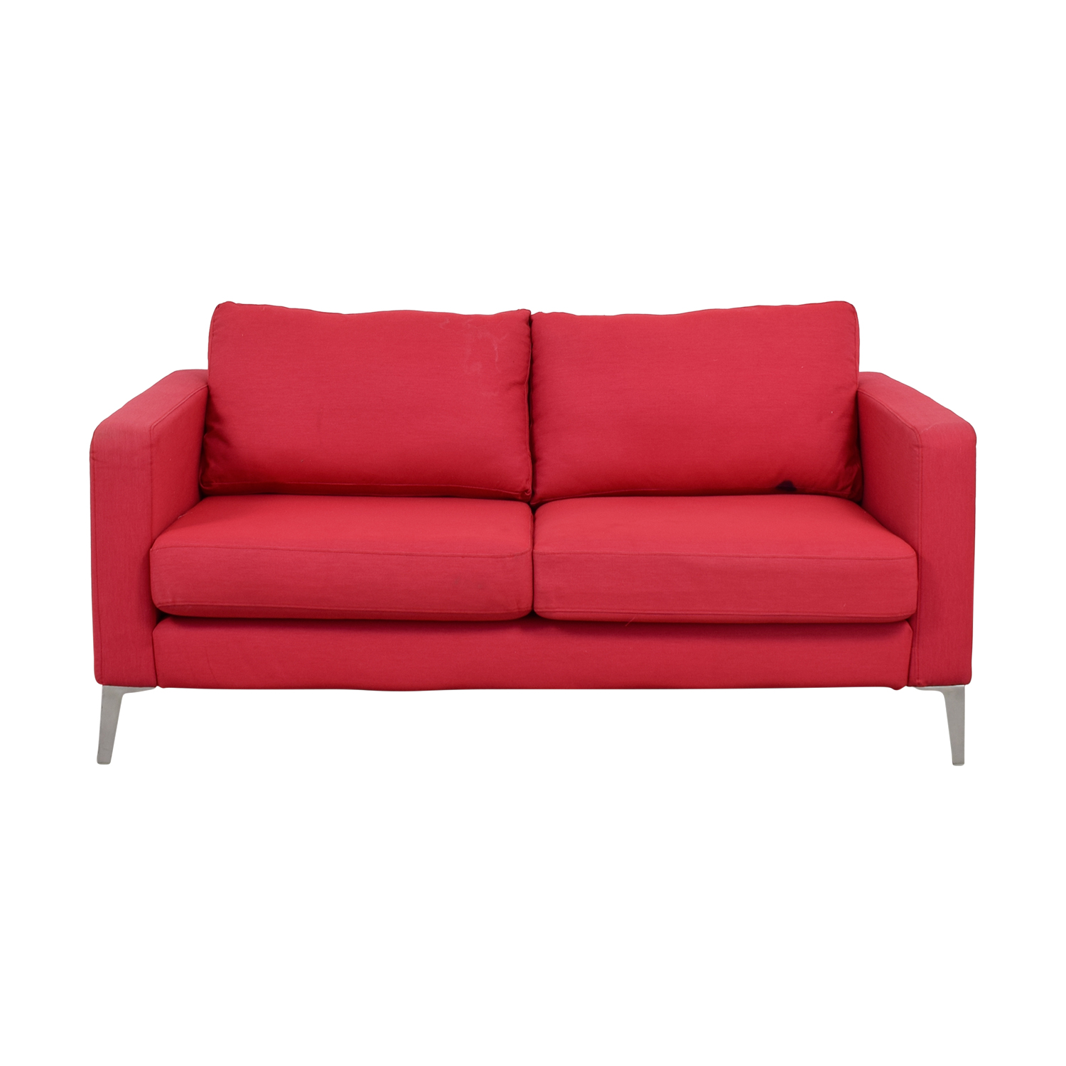 OFF IKEA IKEA Red Two Cushion Love Seat Sofas
