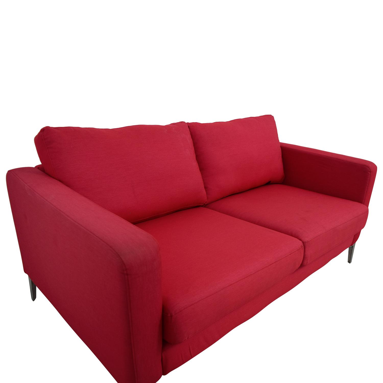 shop IKEA Red Two-Cushion Love Seat IKEA Loveseats