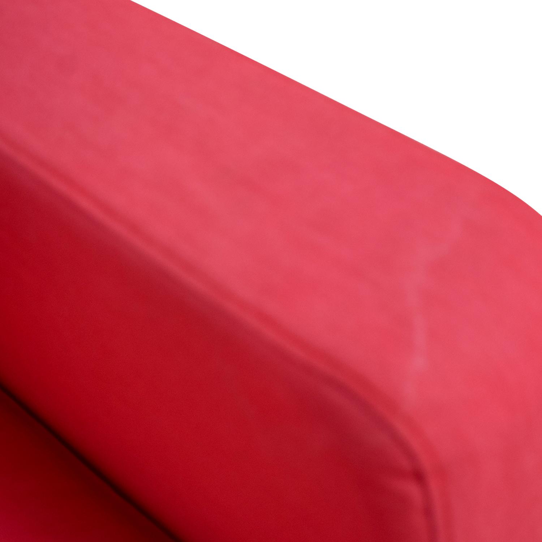 IKEA IKEA Red Two-Cushion Love Seat Sofas