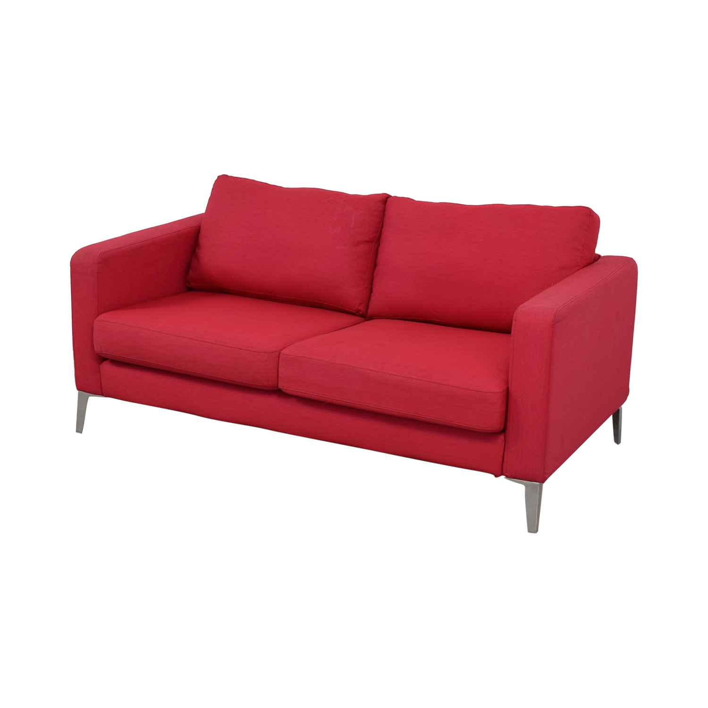 buy IKEA Red Two-Cushion Love Seat IKEA Loveseats