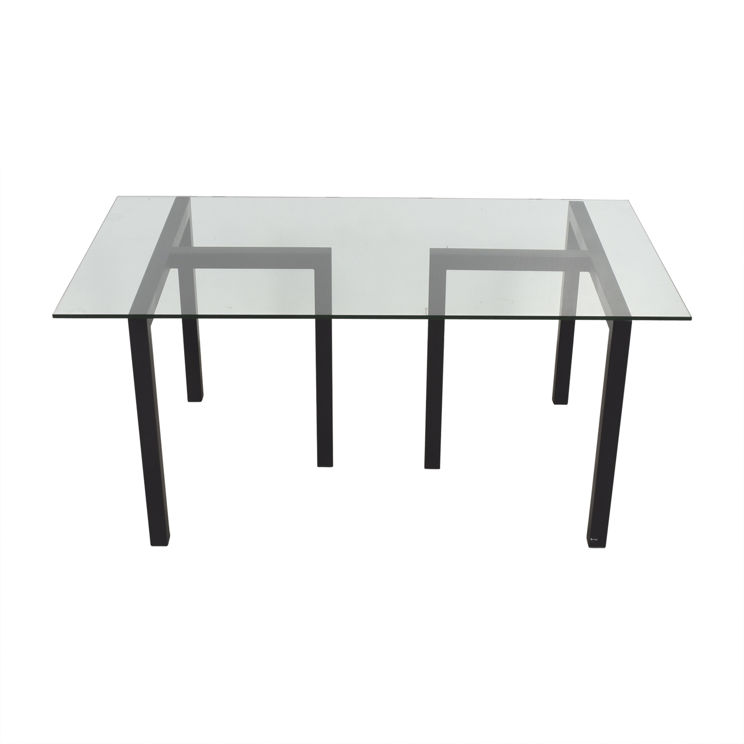 buy Crate & Barrel Tempered Glass Table Crate & Barrel