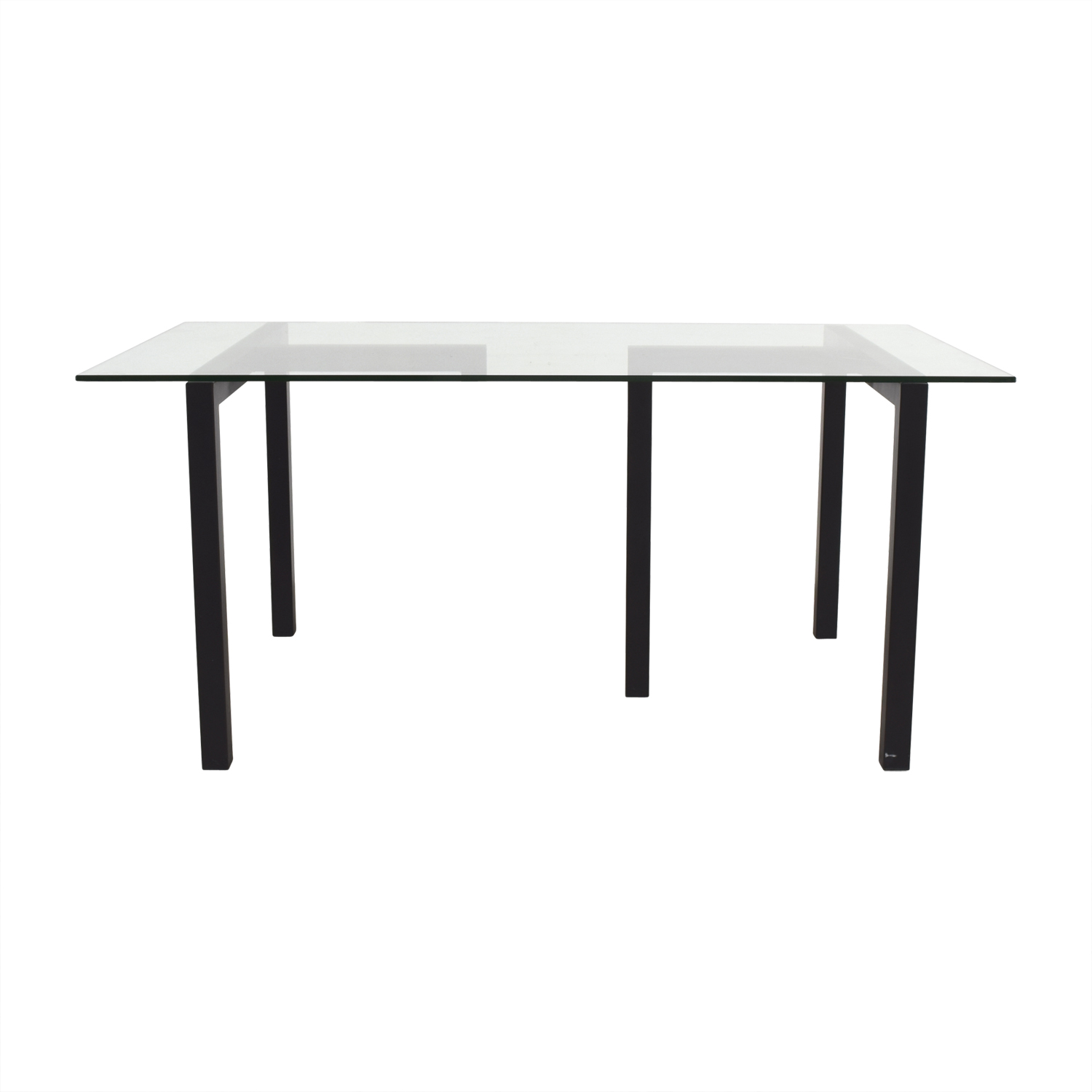 Crate & Barrel Crate & Barrel Tempered Glass Table discount