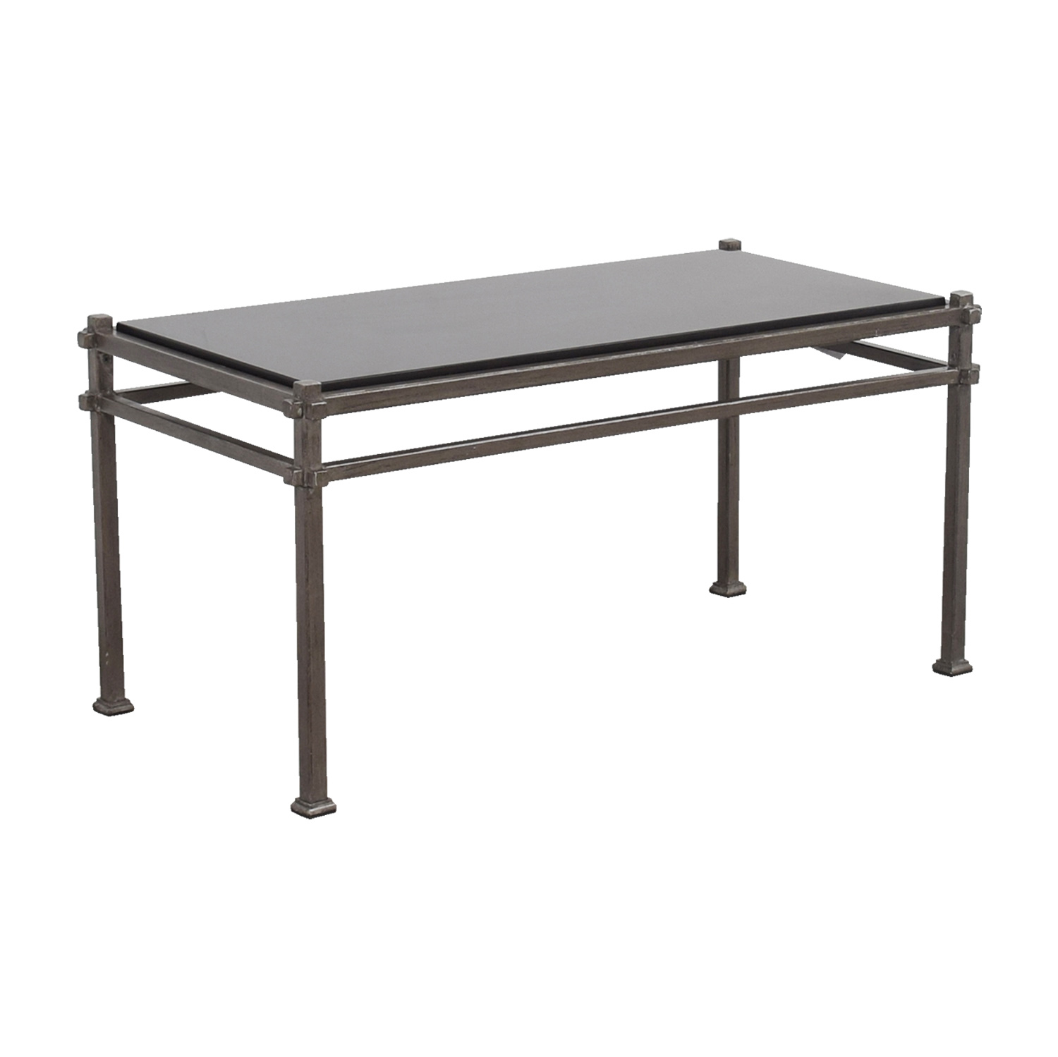 shop Pier 1 Imports Industrial Black Marble and Bronze Frame Coffee Table Pier 1 Imports Coffee Tables