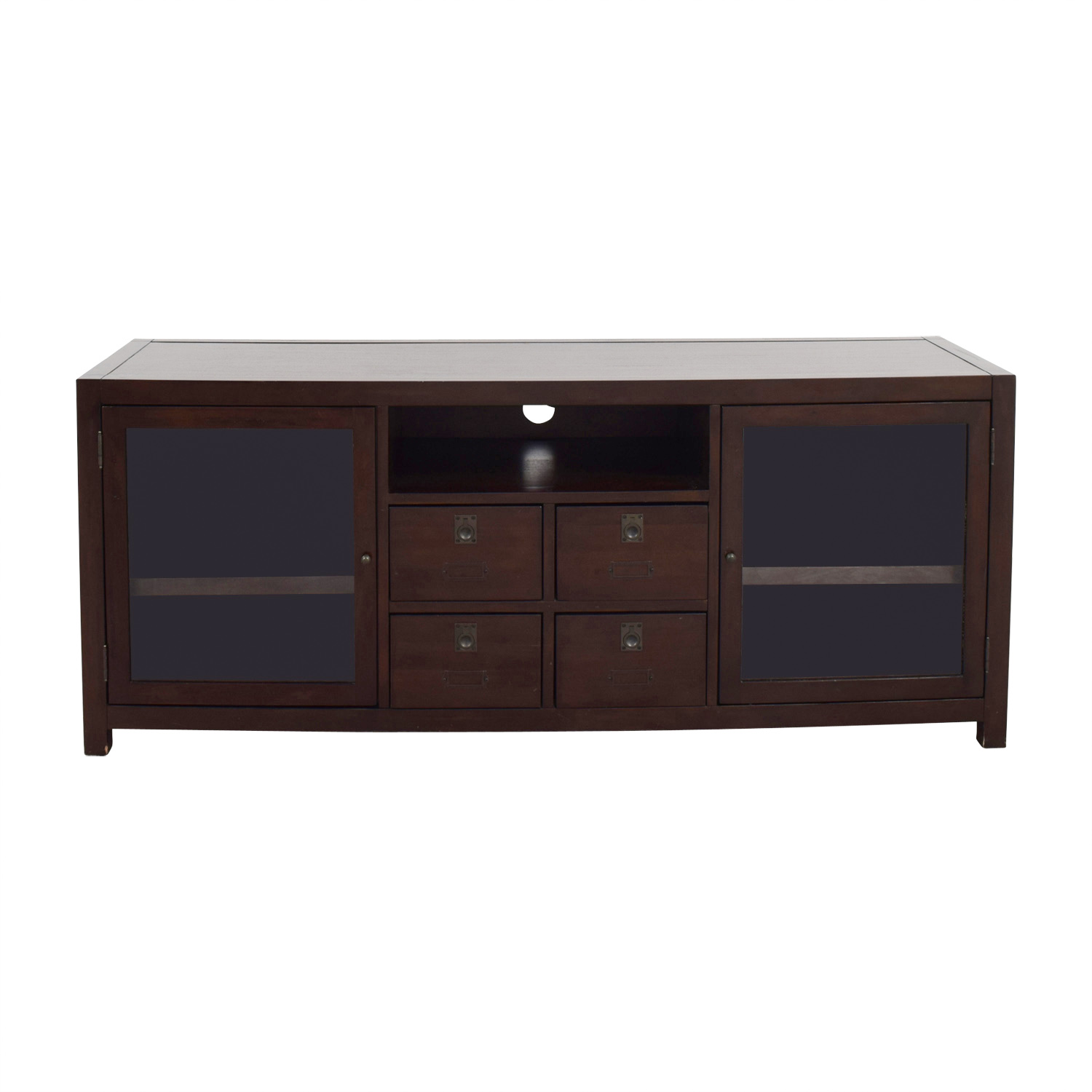 82 off raymour flanigan raymour flanigan tv console storage. Black Bedroom Furniture Sets. Home Design Ideas