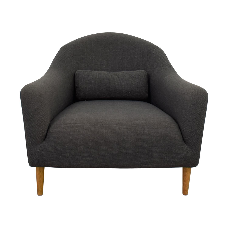 Crate & Barrel Crate & Barrel Grey Accent Chair grey