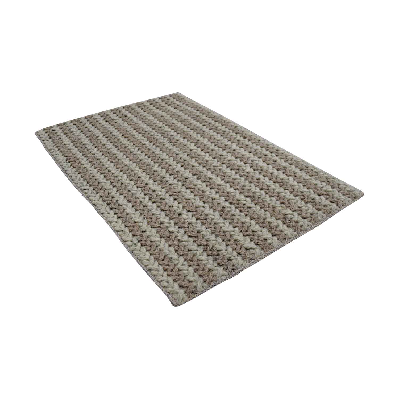 Obeetee Obeetee Tan and Beige Wool Rug dimensions