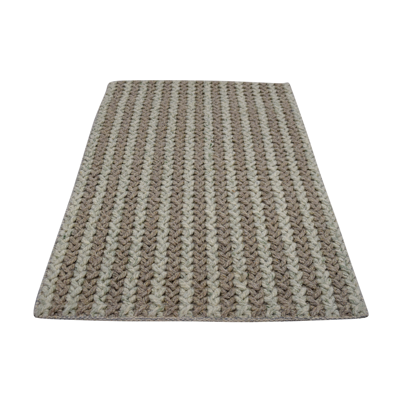 buy Obeetee Tan and Beige Wool Rug Obeetee Rugs