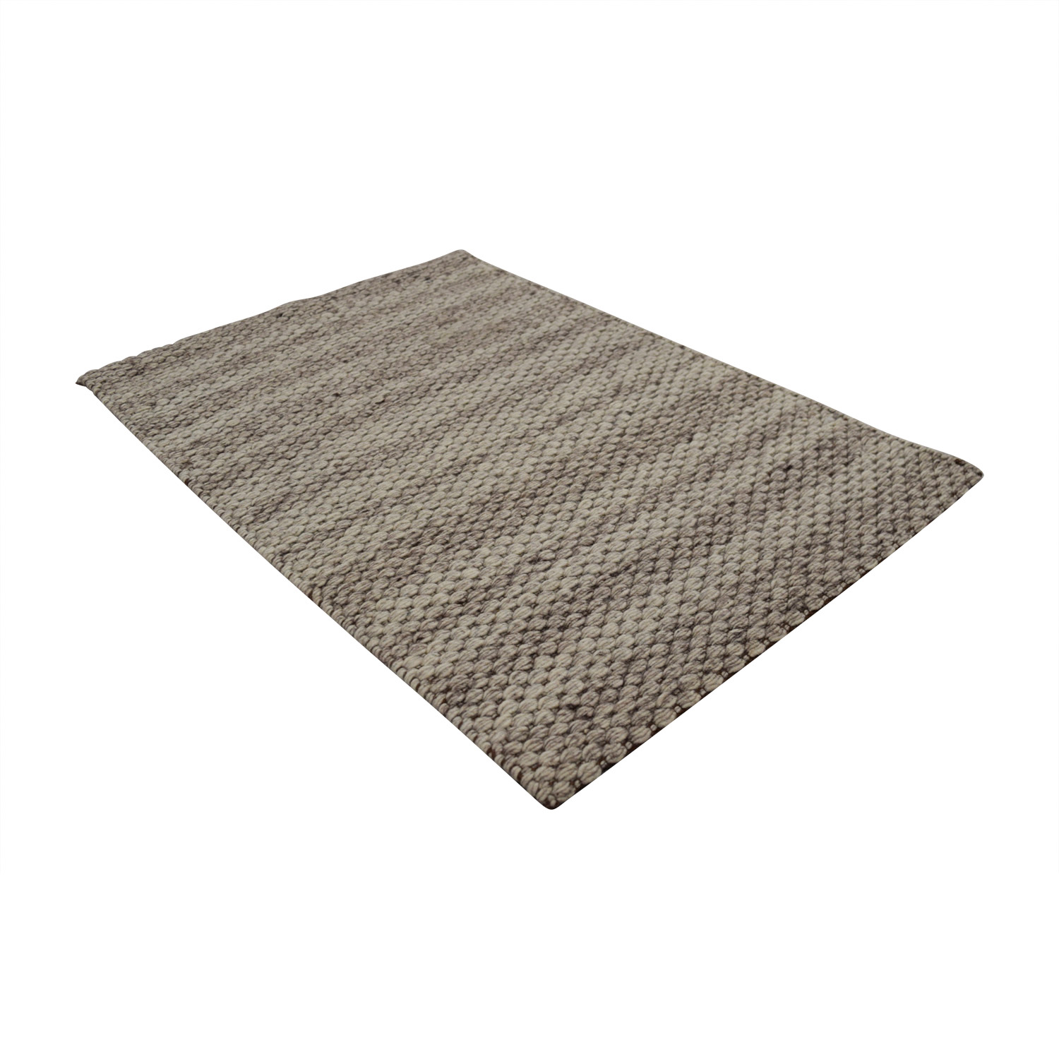 Obeetee Obeetee Tan and Beige Wool Rug Rugs