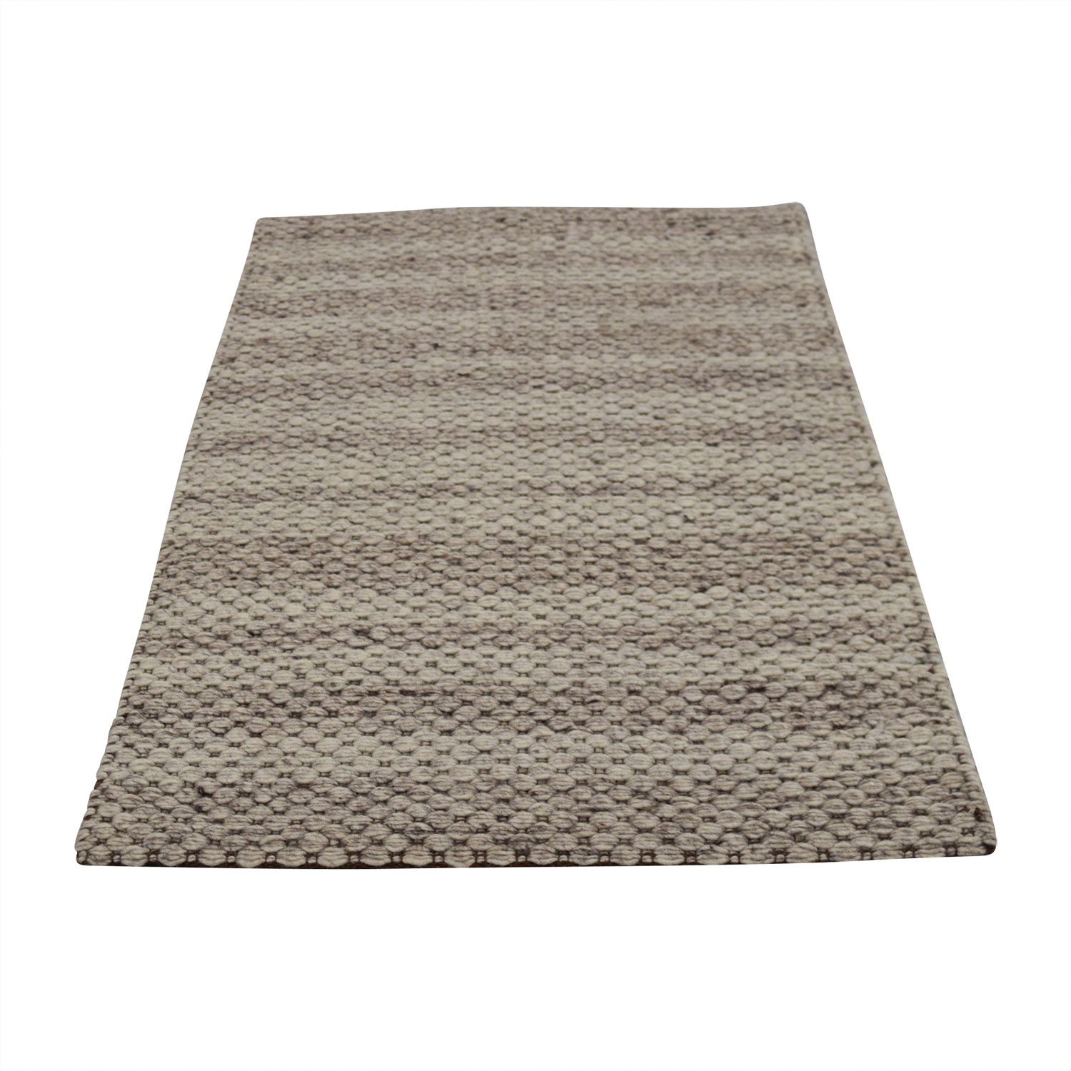 Obeetee Obeetee Tan and Beige Wool Rug for sale
