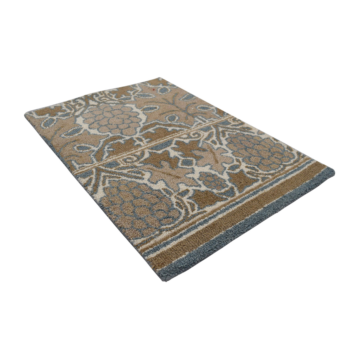 Obeetee Obeetee Tan and Blue Wool Rug price