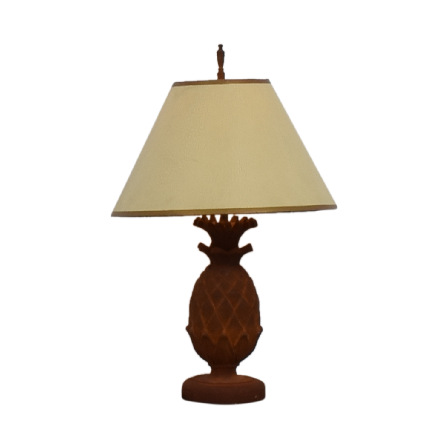 Terra-Cotta Pineapple Desk Lamp for sale