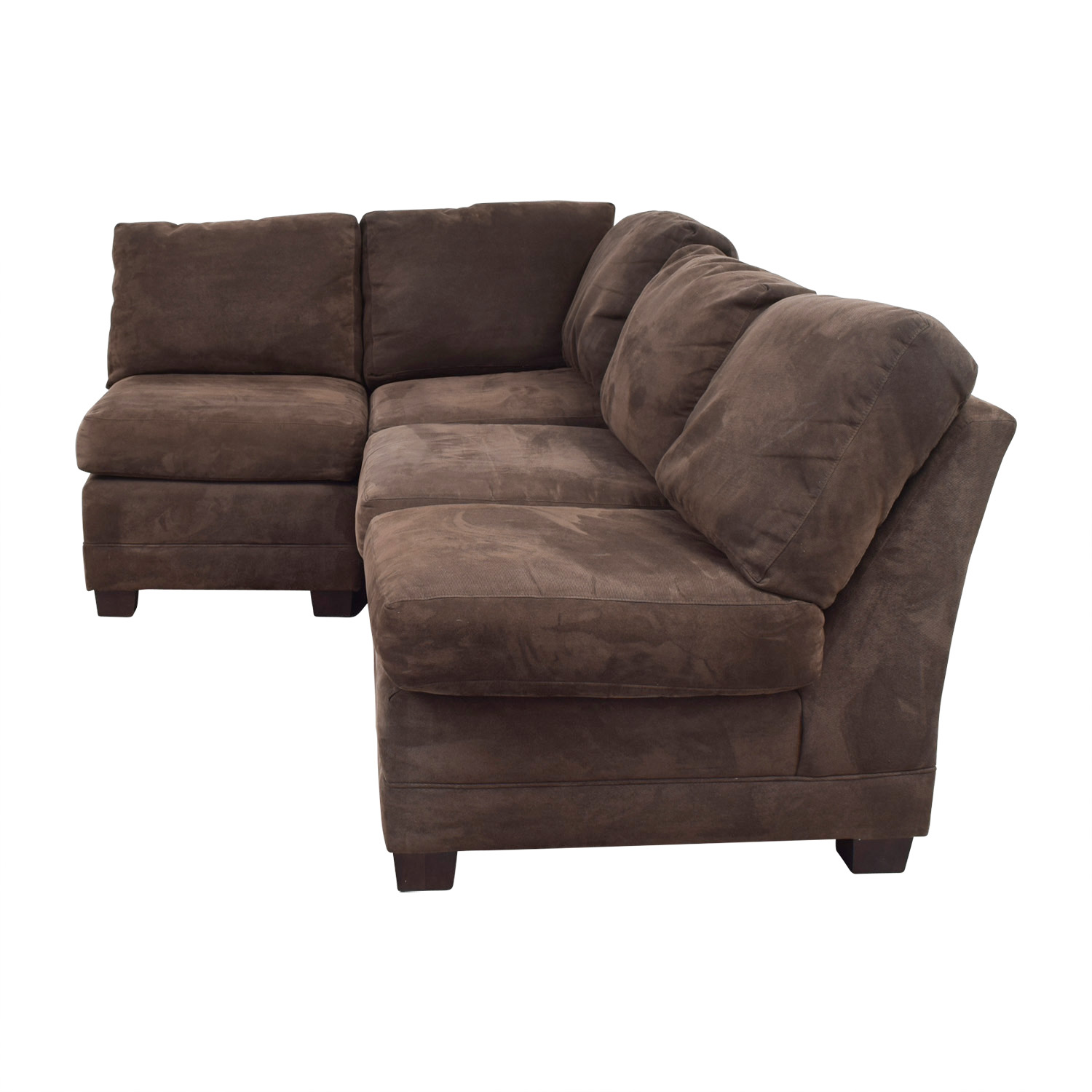 Crate & Barrel Crate & Barrel Via Brown Semi-L Sectional