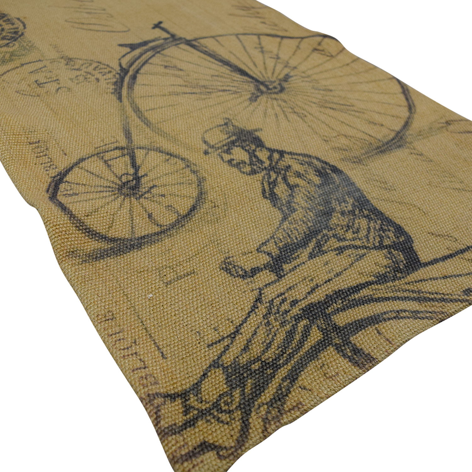 Obeetee Obeetee Brown Bicycle Wool Rug price