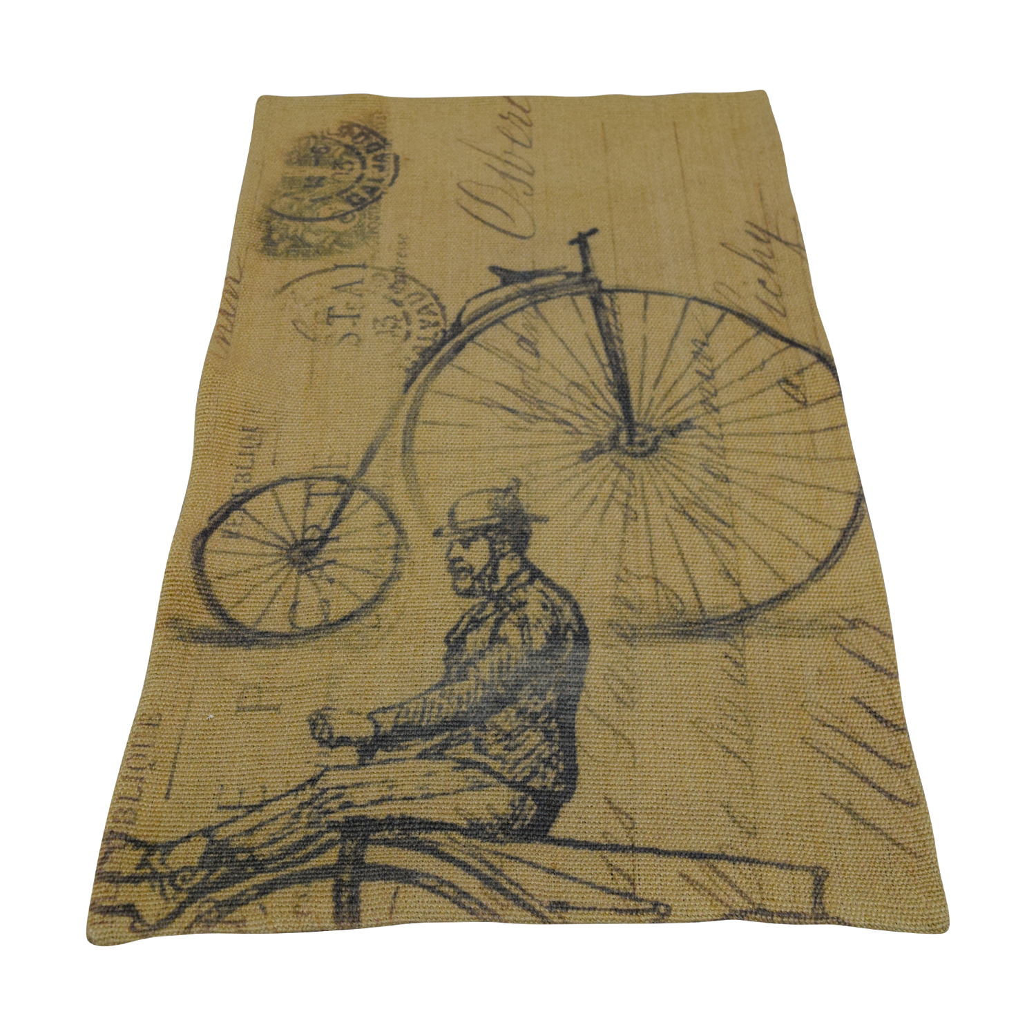 shop Obeetee Brown Bicycle Wool Rug Obeetee