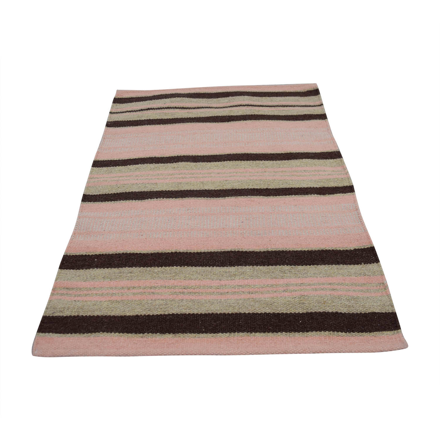 Obeetee Obeetee 2x3 Pink Brown and Tan Rug