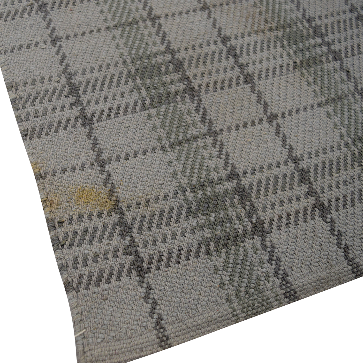 Plaid Rug: Obeetee Obeetee Grey Plaid Rug / Decor