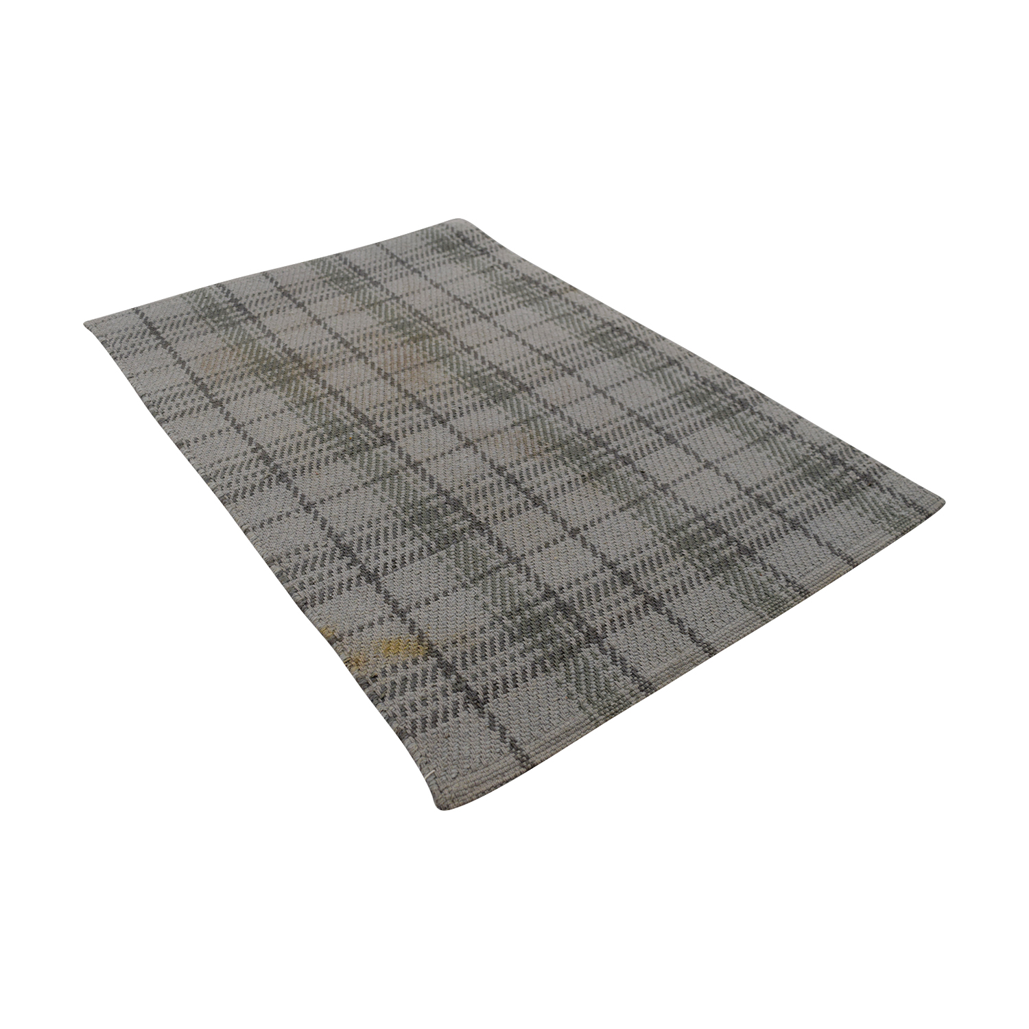 Obeetee Obeetee Grey Plaid Rug coupon