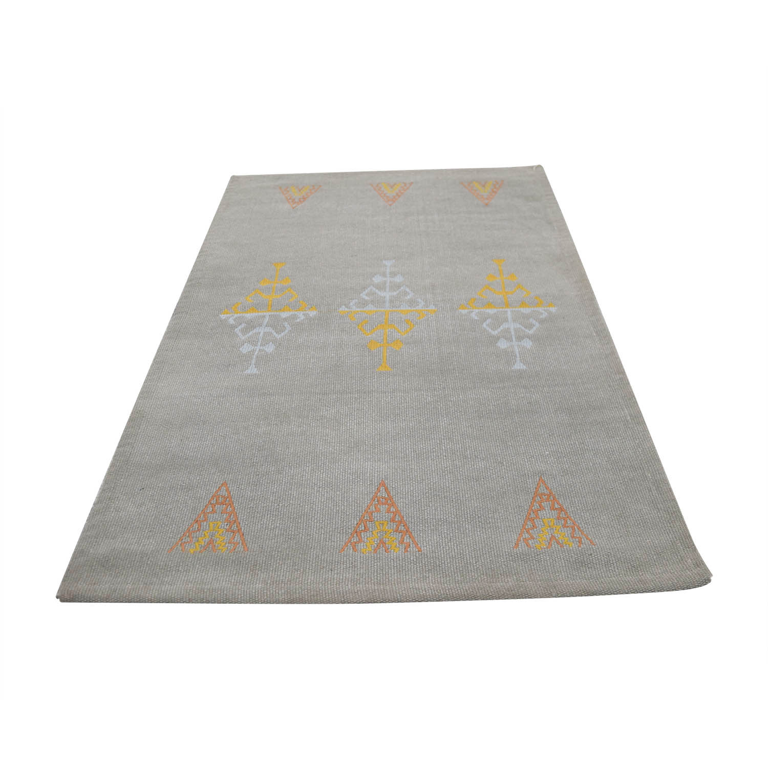 shop Obeetee Grey Multi-Colored Rug Obeetee Decor