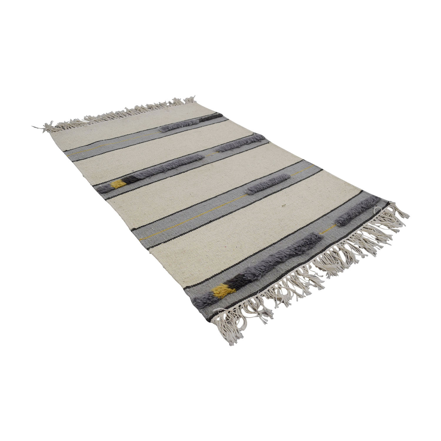 Obeetee Obeetee Grey and Beige Rug on sale