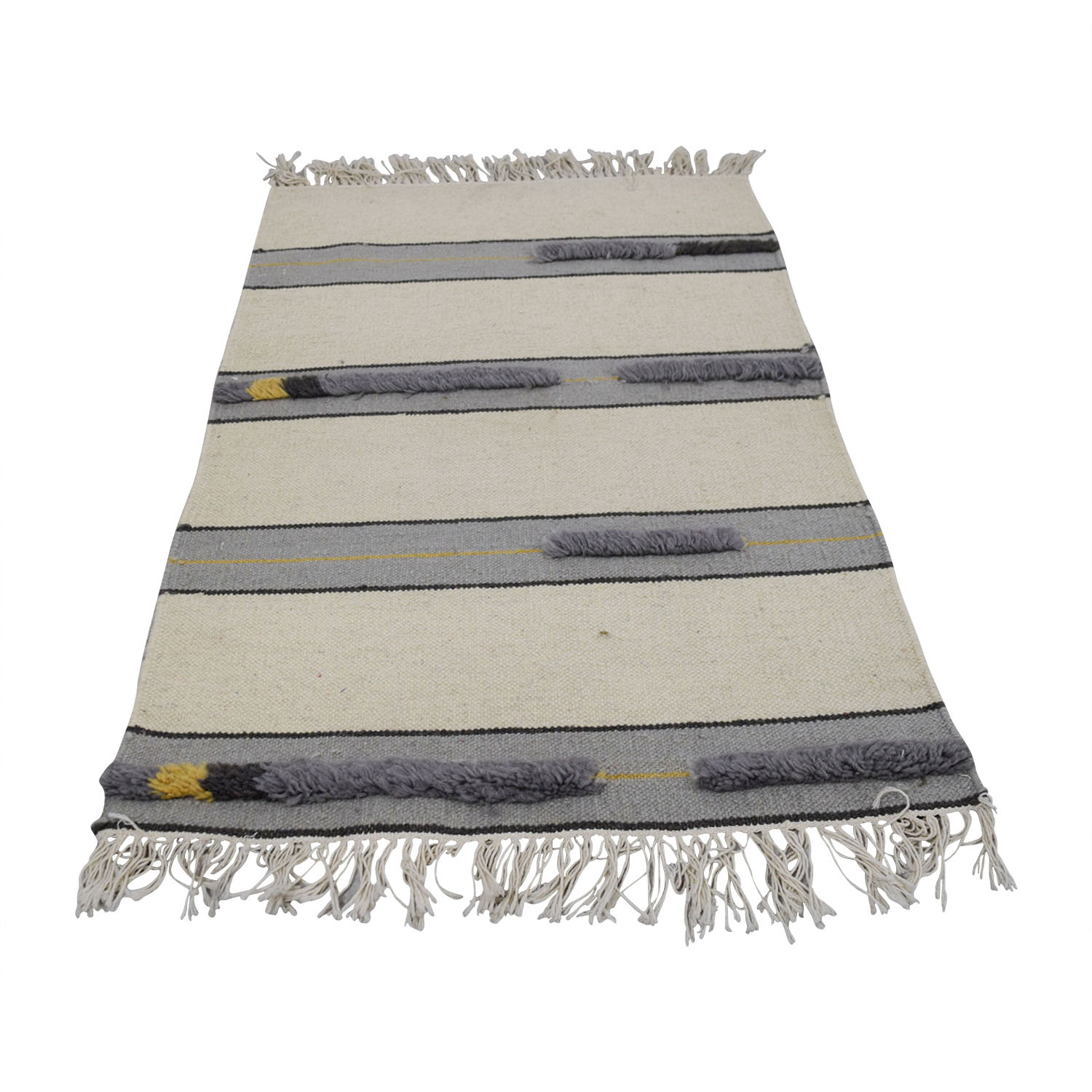 Obeetee Obeetee Grey and Beige Rug Decor