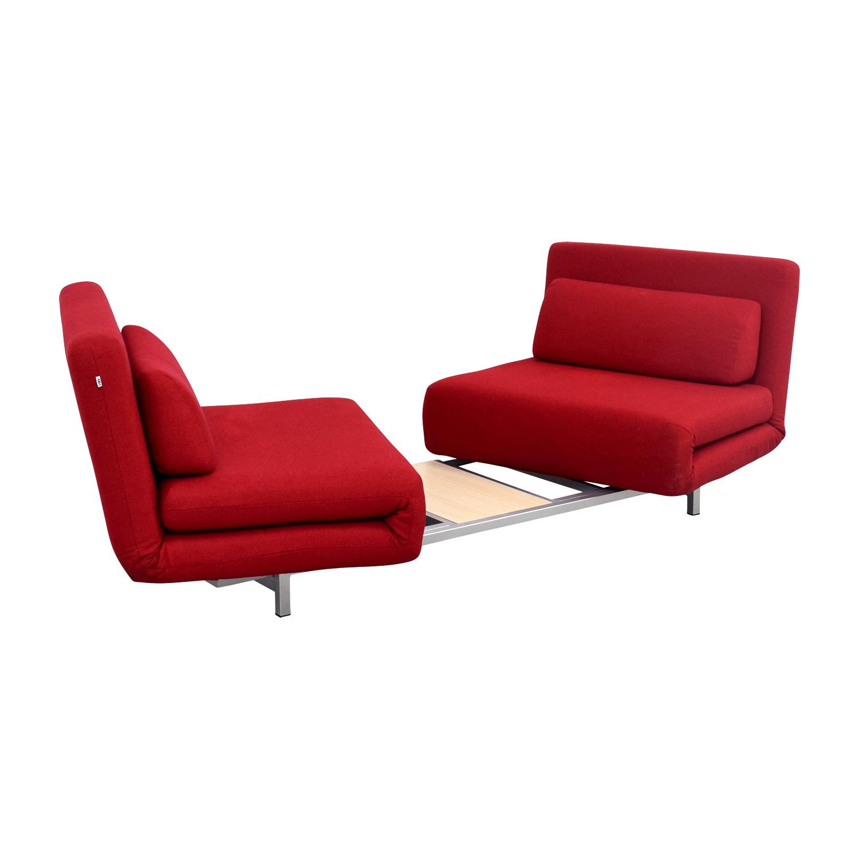 Strange 60 Off Jm Furniture I Do Swivel Convertible Red Futon With Pillows Sofas Forskolin Free Trial Chair Design Images Forskolin Free Trialorg