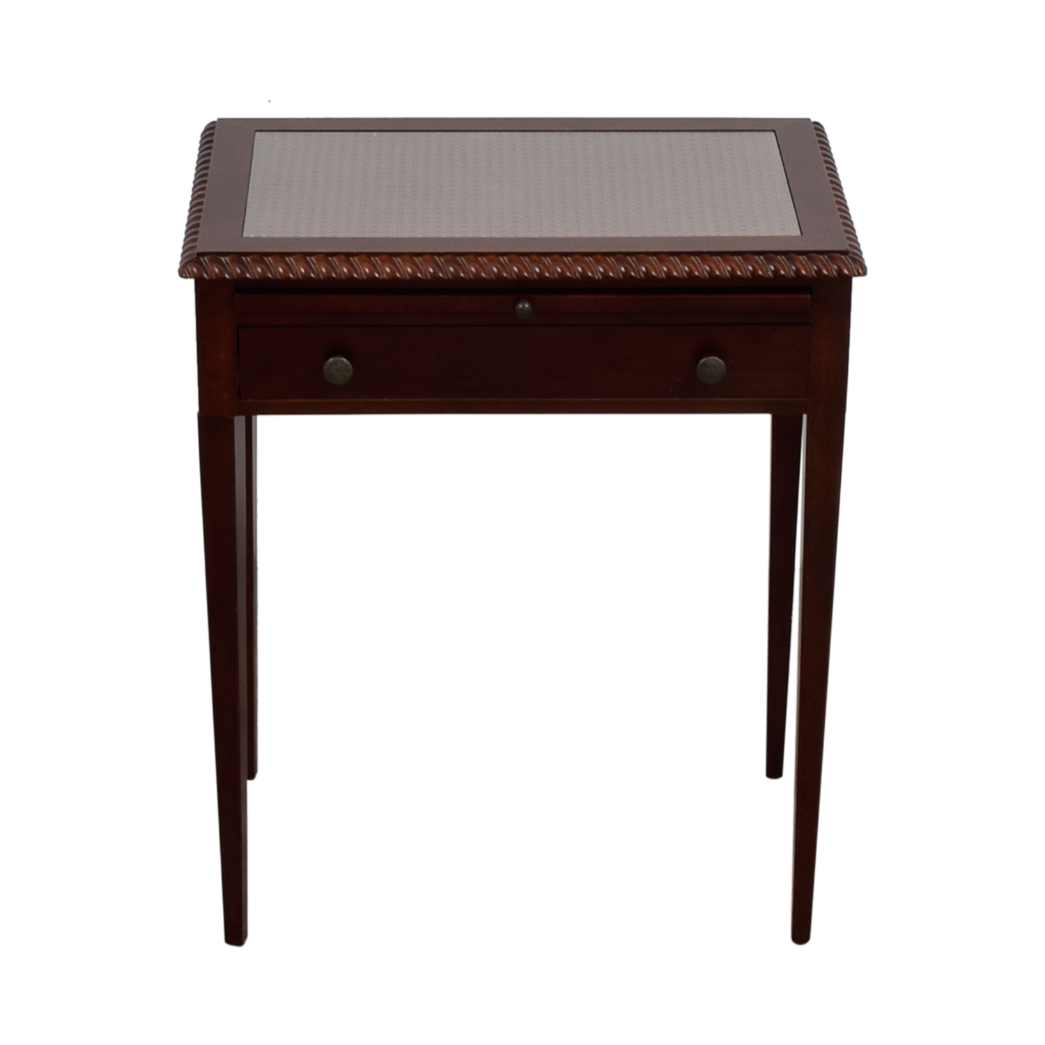 shop Bombay Single Drawer with Tray Glass Top Table Bombay End Tables