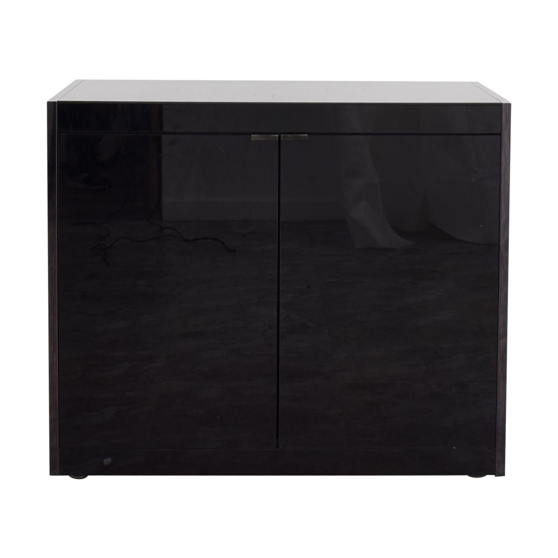 shop Black Reflective Cabinet Storage