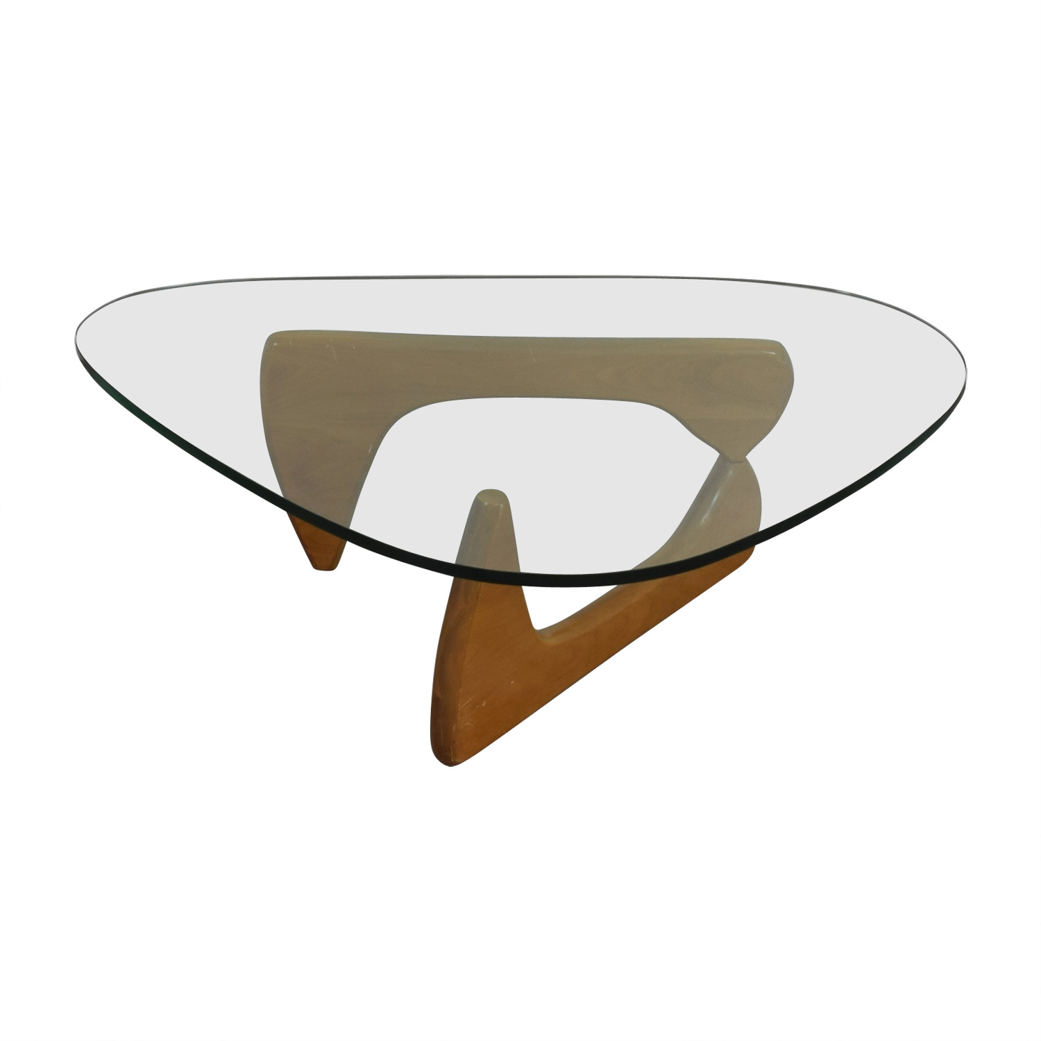Herman Miller Herman Miller Noguchi Glass and Wood Table on sale