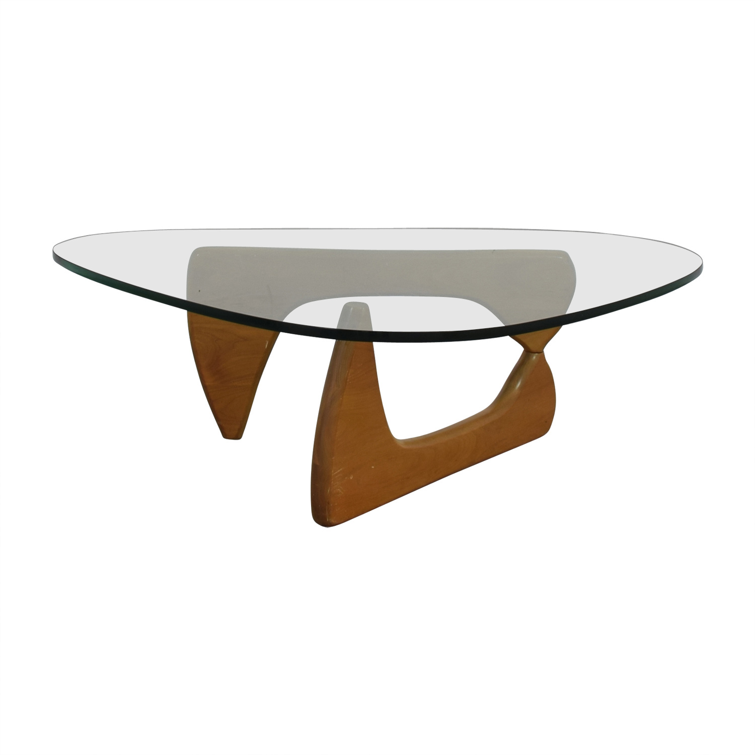 Herman Miller Noguchi Glass and Wood Table sale