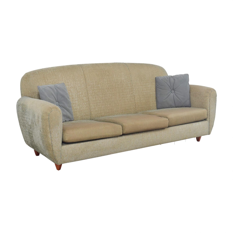 90 Off Green Multi Colored Three Cushion Sofa Sofas