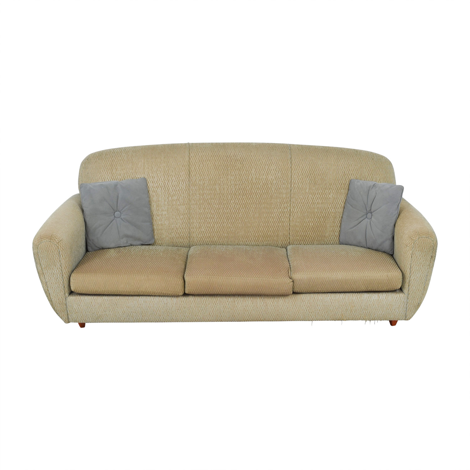 shop Green Multi-Colored Three-Cushion Sofa