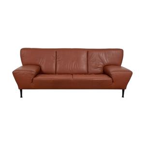 de Sede De Sede Paprika Leather Ribbon Detailed Sofa used
